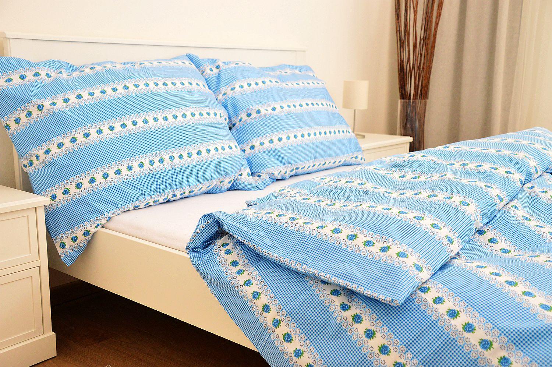 Bavlněný povlak na polštář 40x40 - Belka modrá