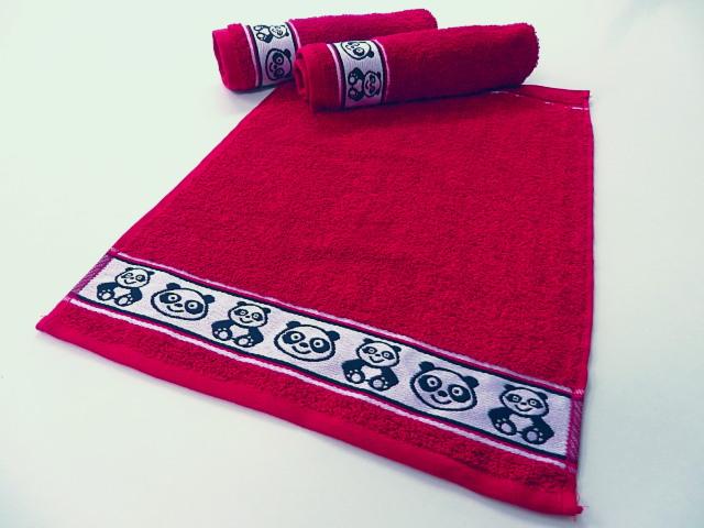 Dětský froté ručník 30x50 - červený