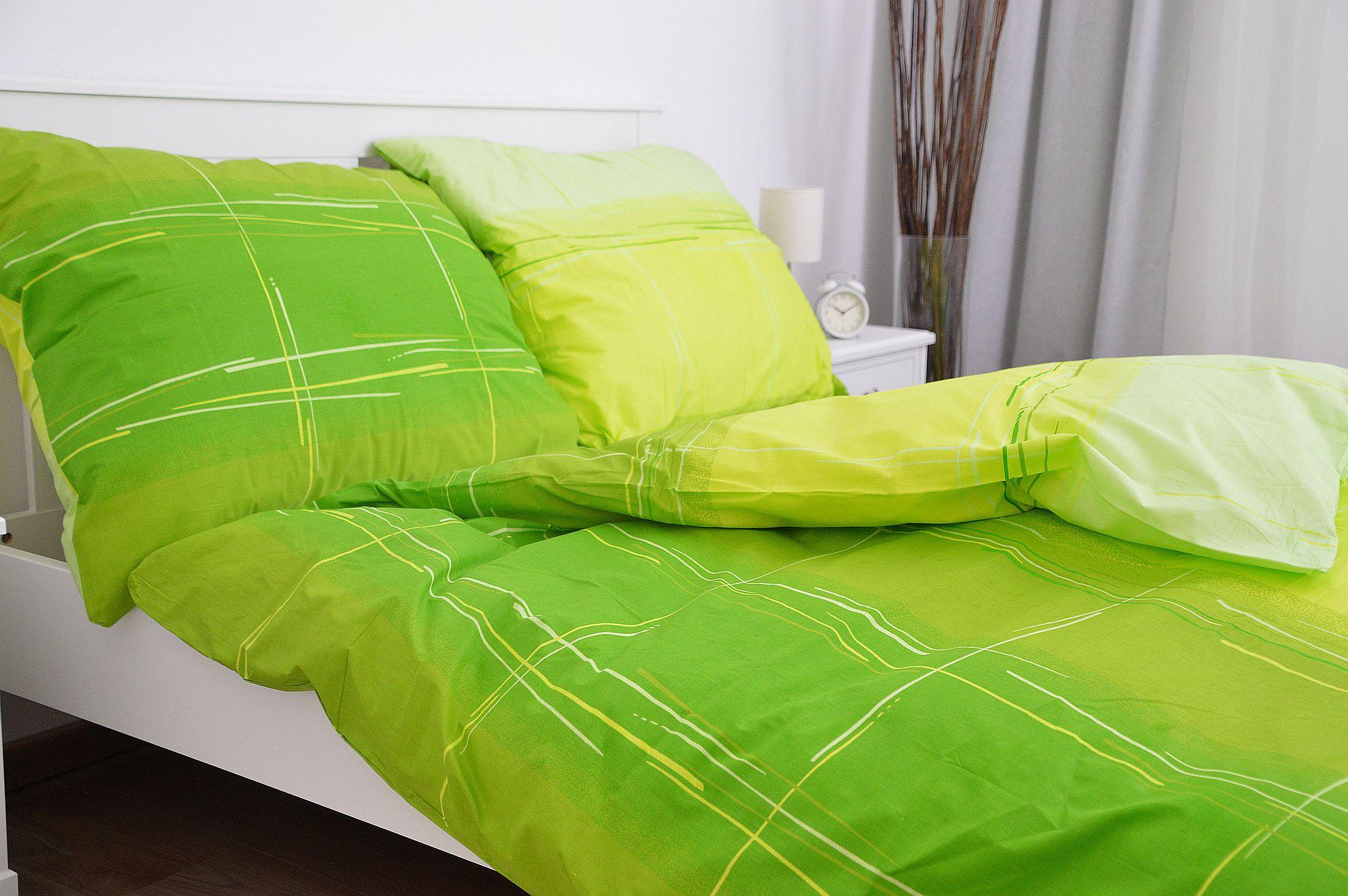 Bavlněné povlečení 140x200 - Cákance zelené