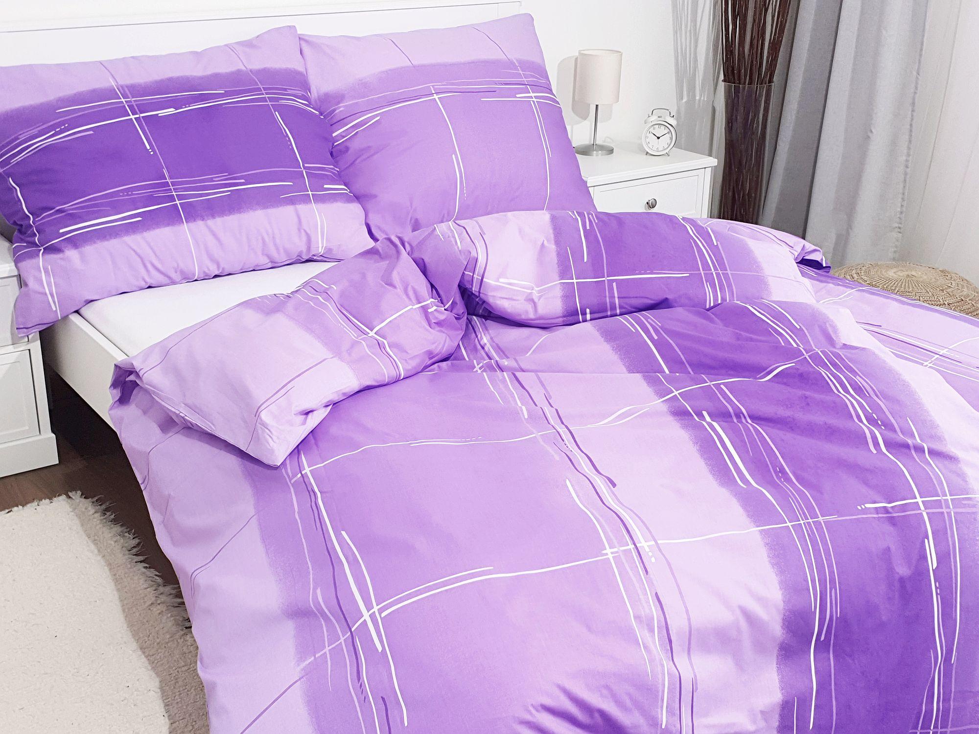 Bavlněné povlečení 140x220 - Cákance fialové