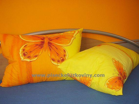 Polštářek - macík sada 2ks 35x45 - Motýl žlutý