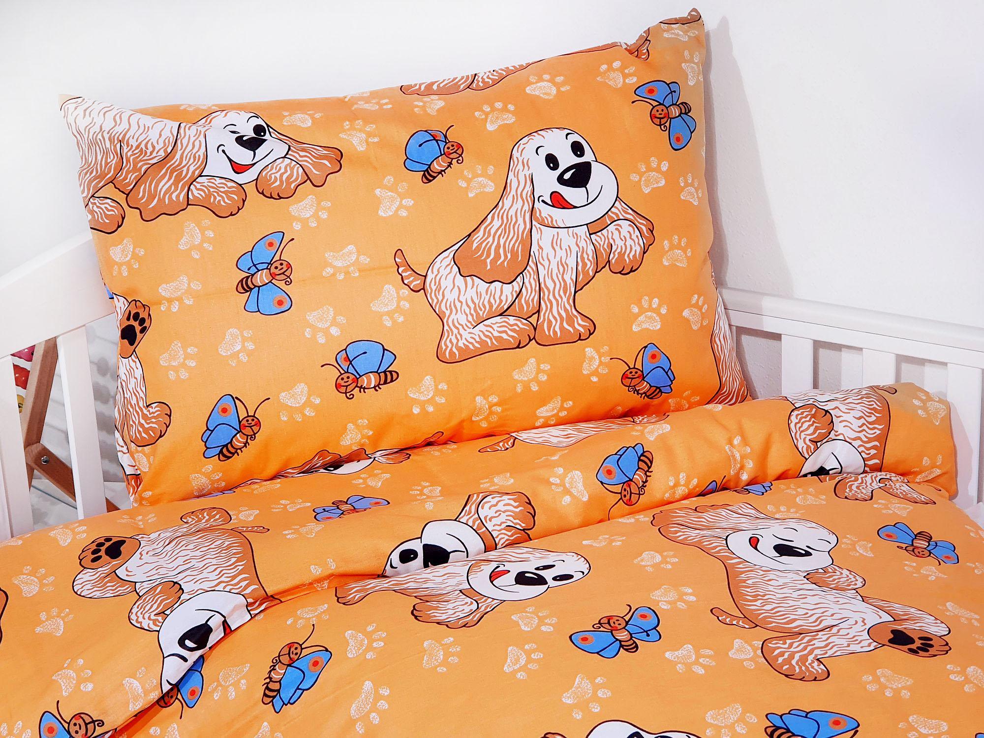 Detské obliečky - Psík oranž