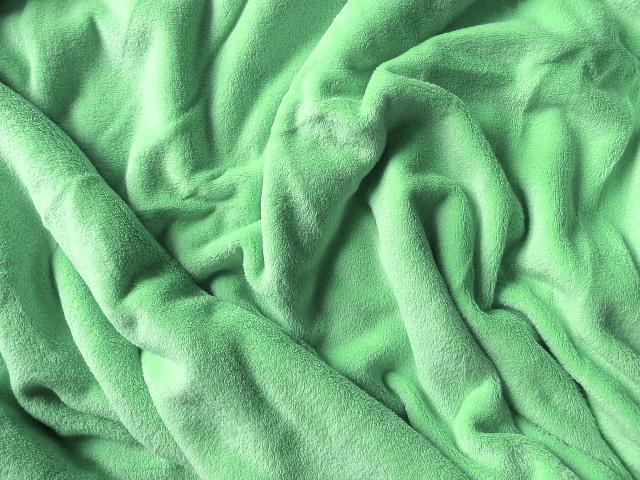 Mikroflanel prostěradlo 180x200 - světle zelené