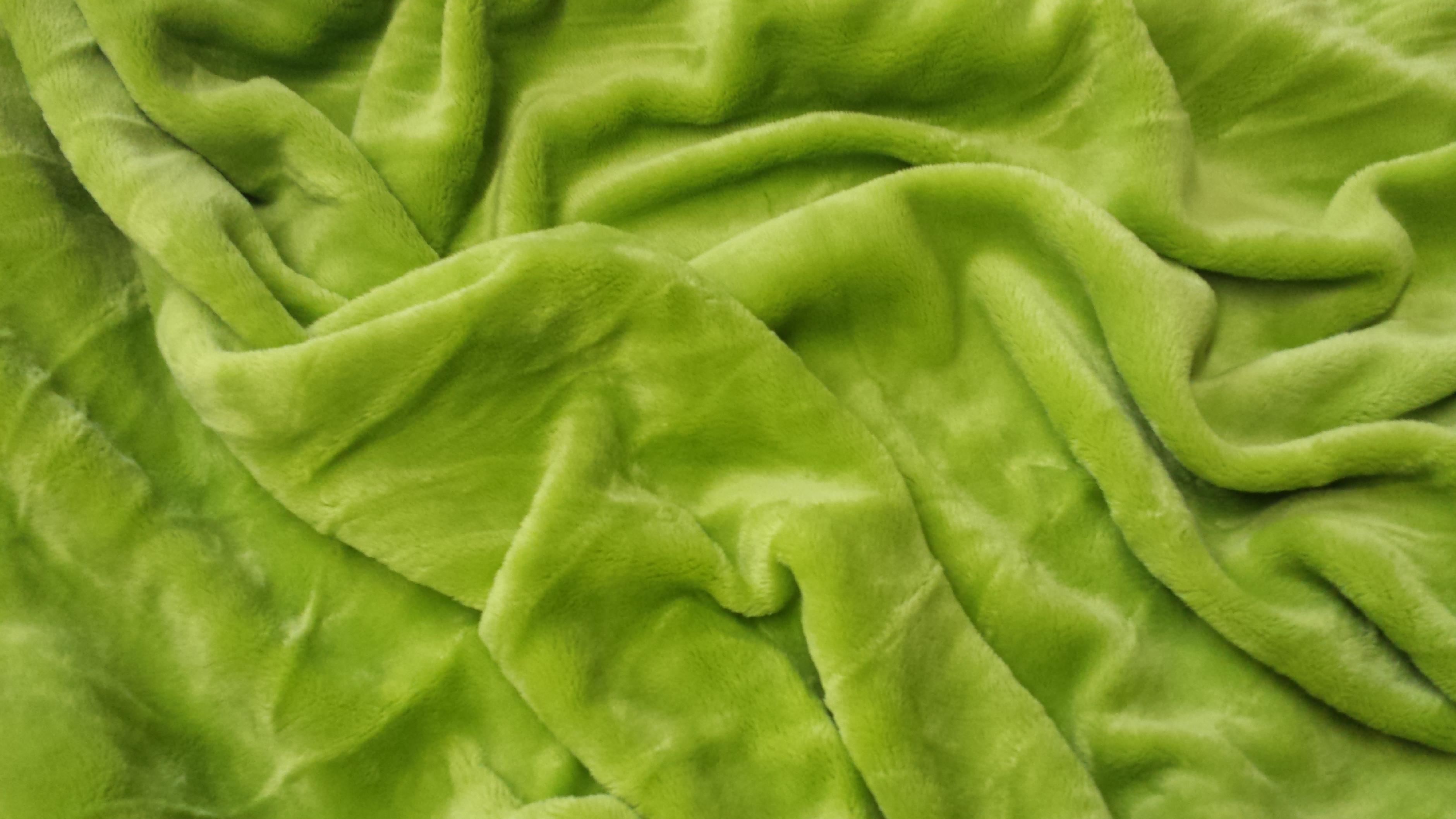 Mikroflanel prostěradlo 180x200 - zelené