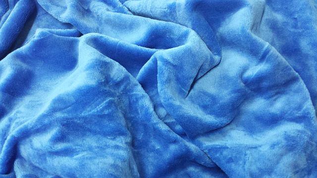 Mikroflanel prostěradlo 90x200 - modré