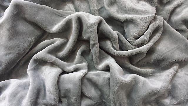 Mikroflanel prostěradlo 180x200 - šedé
