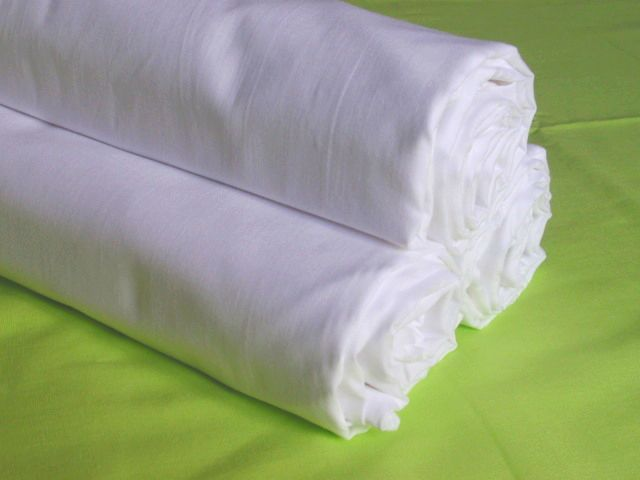 Prostěradlo bavlna styl PLÁTNO - dětská postýlka- bílé 150x80