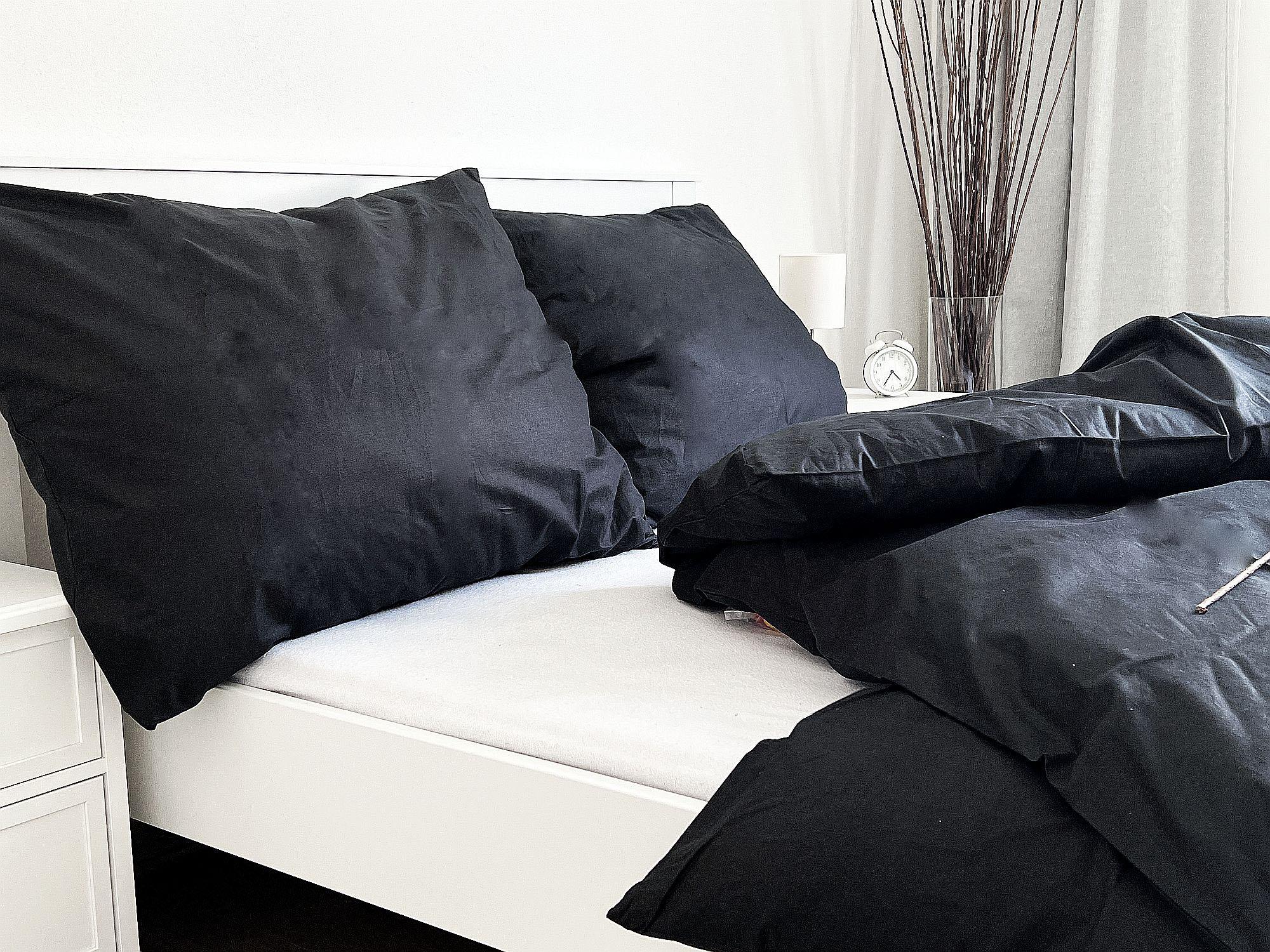 Bavlněný povlak na polštář 70x90 - Černý