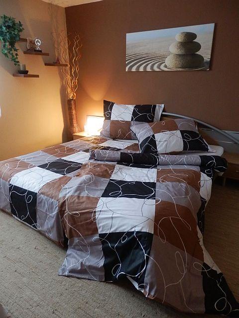 Bavlněný povlak na polštář 45x65 - Šachovnice hnědá