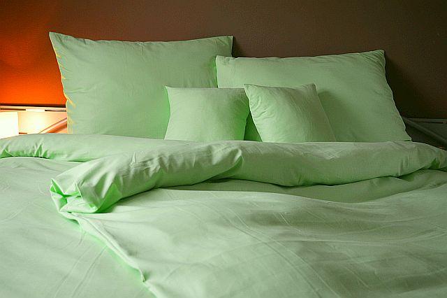 Bavlněný povlak na polštář 45x65- Zelený