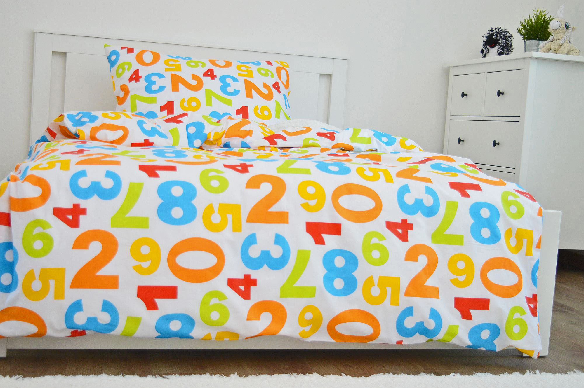 Bavlněný povlak na polštář 40x40 - Barevná čísla