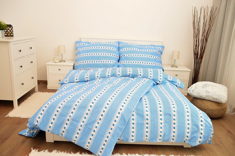Bavlněné povlečení 140x220 - Belka modrá