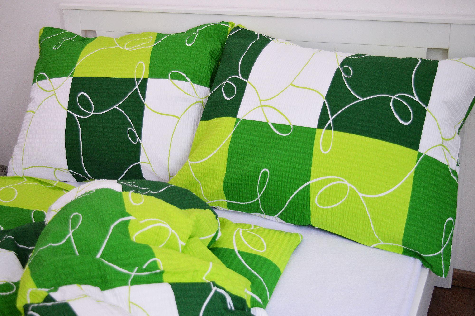 Krepový povlak na polštář  70x90 - Šachy zelené