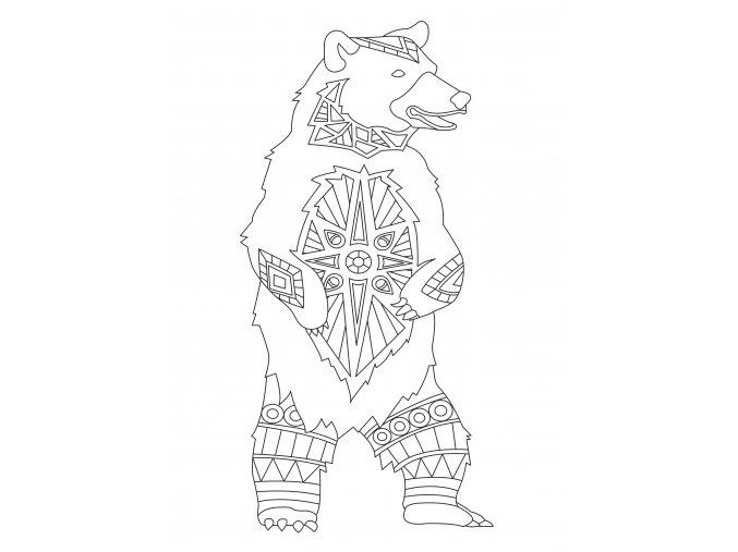 Šablona Medvěd