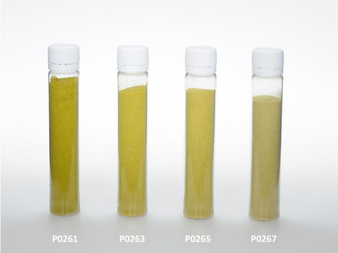 Barevný písek - žlutozelená barva