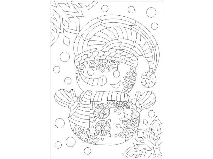 Šablona Sněhulák s čepicí