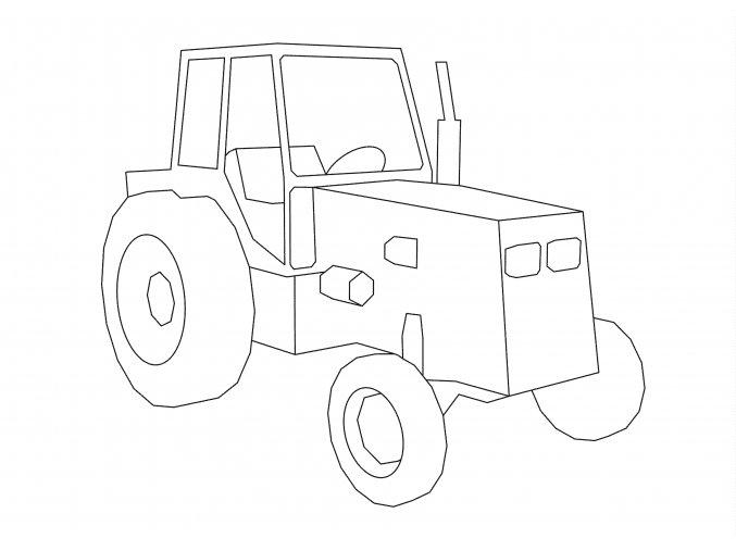 Šablona Traktor