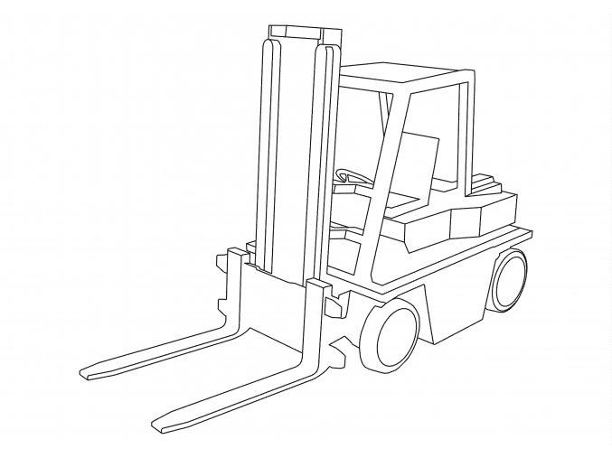 Šablona Vysokozdvižný vozík
