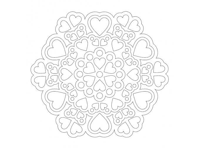 Šablona Mandala 0532