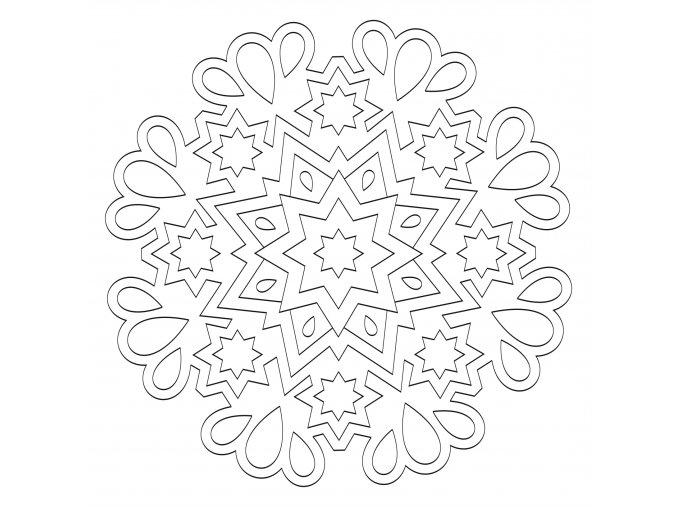 Šablona Mandala 0533