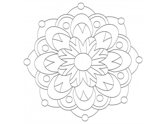 Šablona Mandala 0534