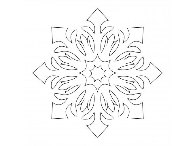 Šablona Sněhová vločka 2