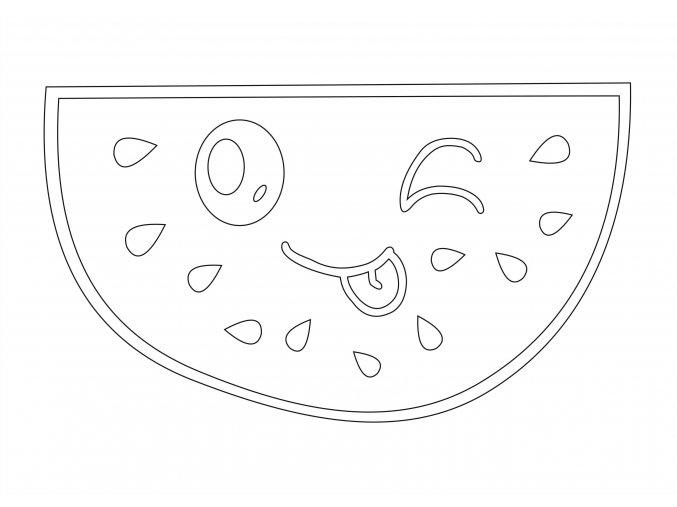 Šablona Smějící se meloun