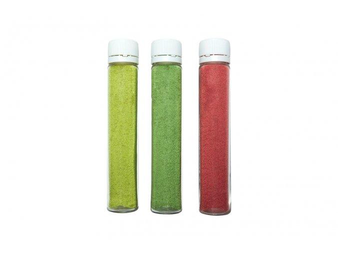 Barevný písek - neonově zelená barva