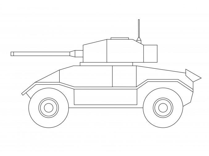 Šablona Tank britský AEC Mk III