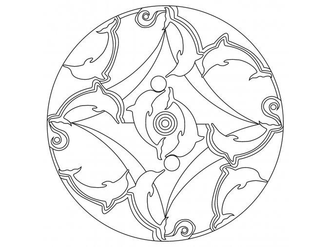 Šablona Mandala 0422
