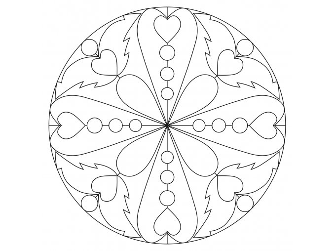 Šablona Mandala 0423