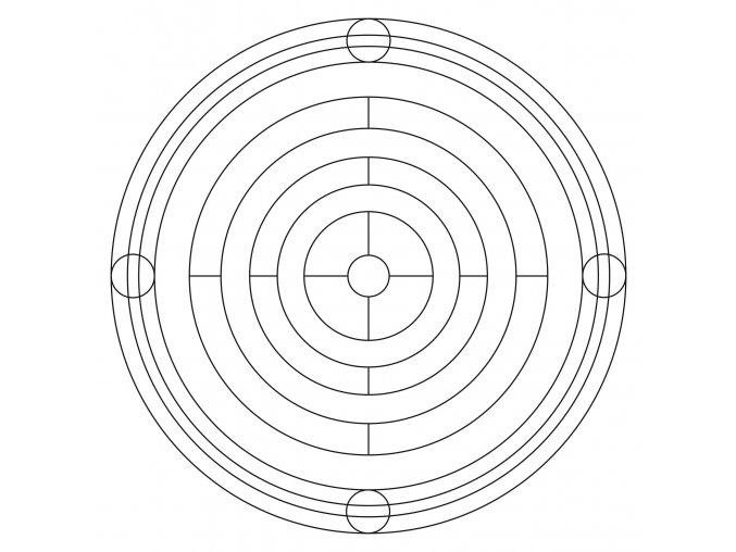 Šablona Mandala 0425