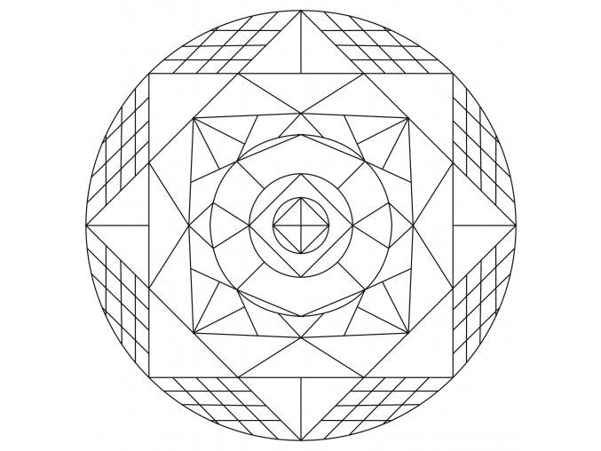 Šablona Mandala 0428
