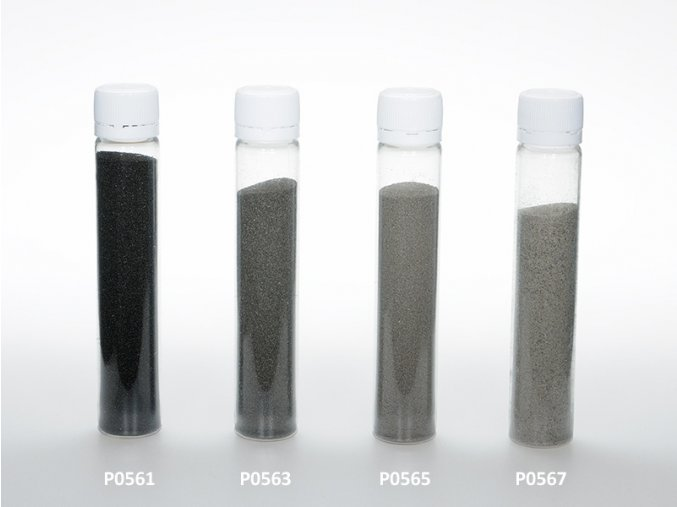 Barevný písek - černá barva