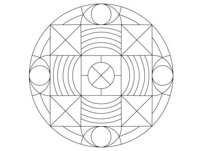 Šablona Mandala 0429