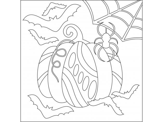 Šablona Dýně s pavoukem