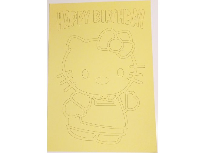 Šablona Hello Kitty Happy Birthday