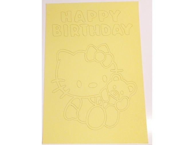 Šablona Hello Kitty s medvídkem