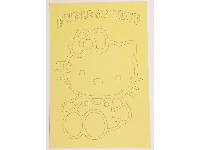 Šablona Hello Kitty Endless love