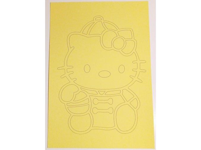 Šablona Hello Kitty 4
