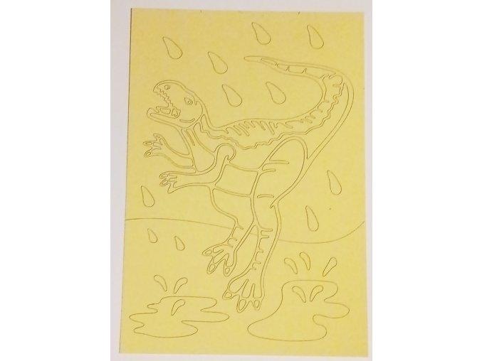 Šablona Dinosaurus Veloceraptor