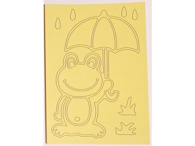 Šablona Žabka s deštníkem