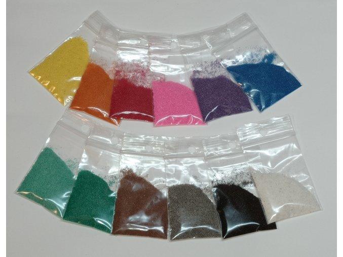 Sada barevného písku 12 ks