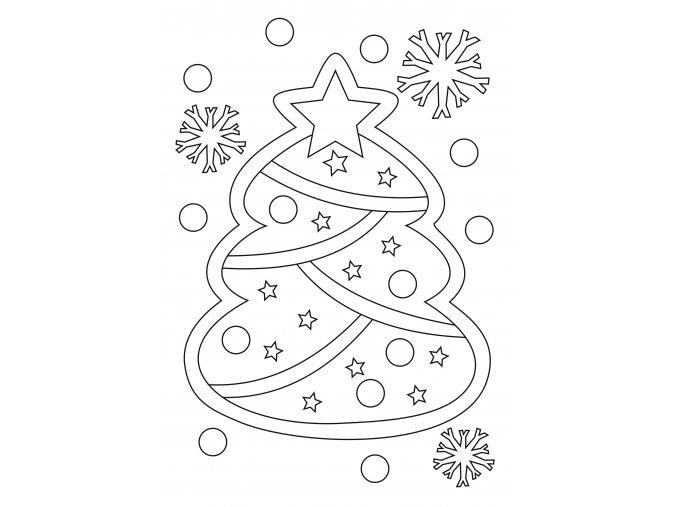 Šablona Vánoční stromeček