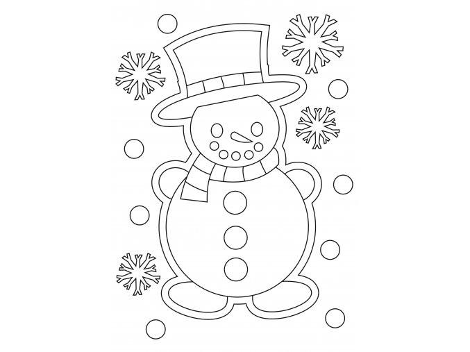 Šablona Sněhulák s kloboukem
