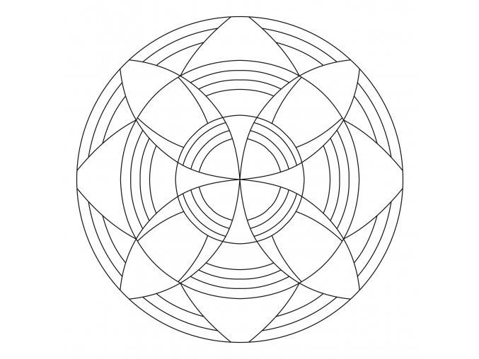 Šablona Mandala 0431