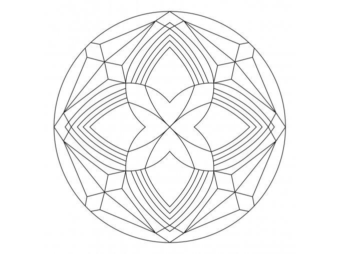 Šablona Mandala 0432