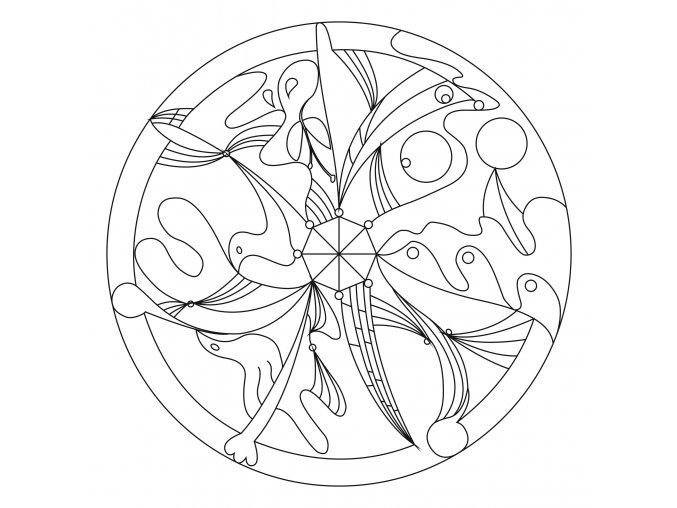 Šablona Mandala 0435