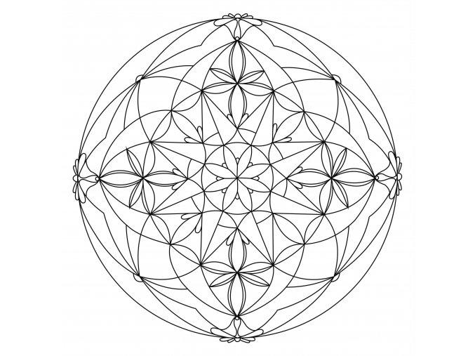 Šablona Mandala 0109