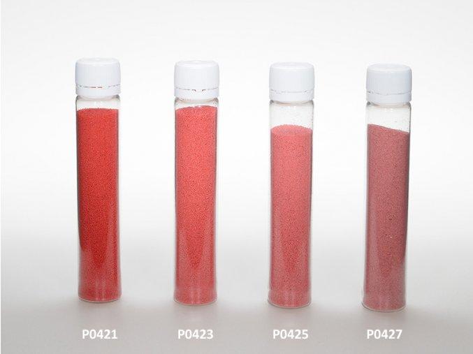 Barevný písek - červená barva